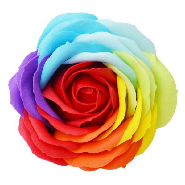 [Yulikeit] 9 Pcs Soft Simulation Petals Soap Flower Artificial Rose Home Decoration Holiday Gift