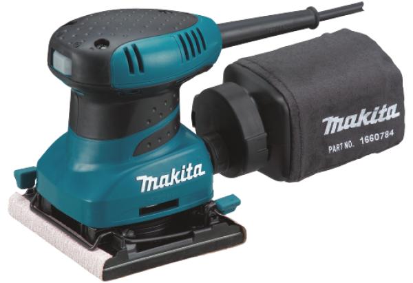Makita Finishing Sander 4x4, 200W, 14000opm, 1.1kg BO4556