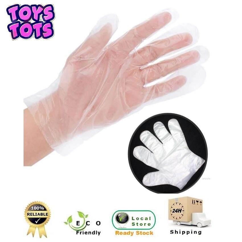 100pcs PE Transparent Plastic Disposable Film Finger Gloves