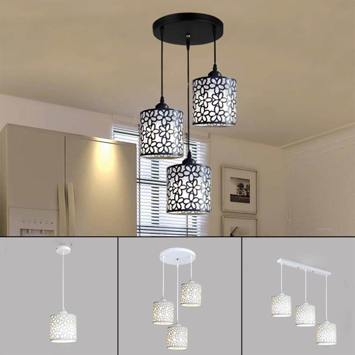 Modern flower petal ceiling light led pendant lamp dining room chandelier new 1 light round