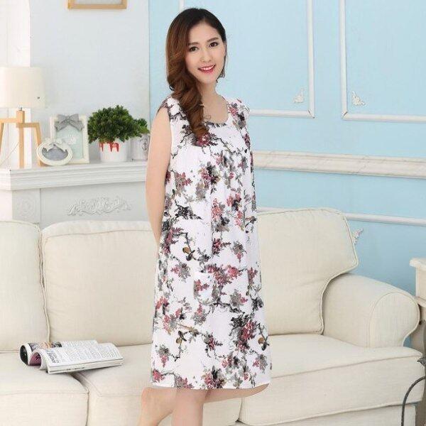 Nơi bán Đồ Ngủ Cotton Mùa Hè Áo Ngủ, Đầm Sơ Mi Nữ Ban Đêm Quần Áo Gia Đình Phòng Chờ Nữ Váy Ngủ Cotton, Áo Ngủ