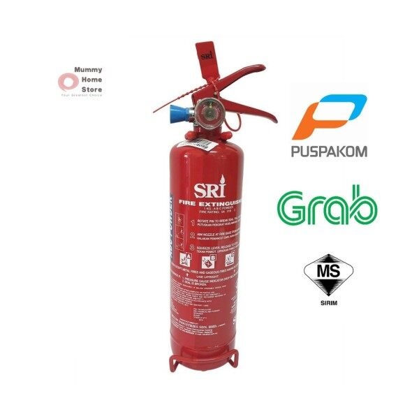 [Ready Stock] Fire Extinguisher 1kg ABC Dry Powder (SRI)/(UNIQUE)