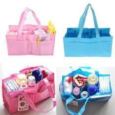Sissi túi đựng đồ thay tã đa năng cho bé, túi vải thân thiện màu xanh dương và màu hồng tiện dụng cho các hoạt động du lịch và ngoài trời – INTL