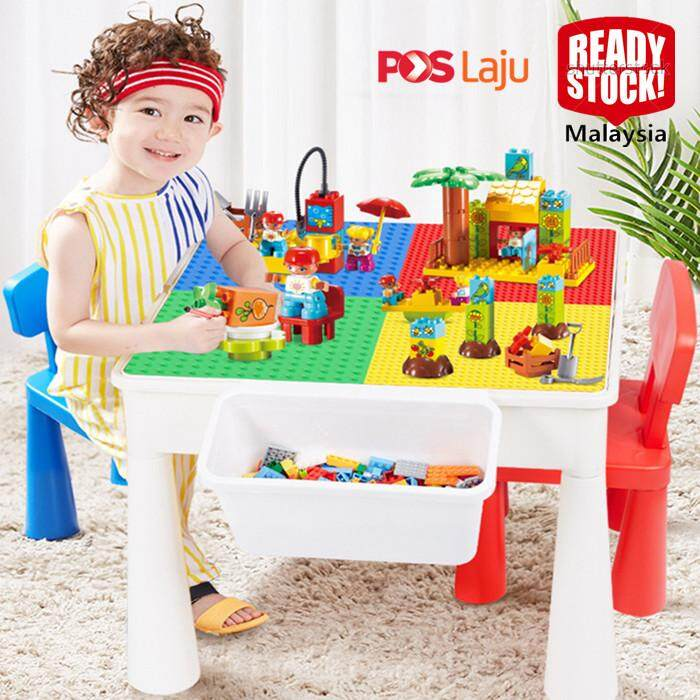 Ready Stock Kids Multifunction Building Block Table Learning Desk By Zero2infinity.