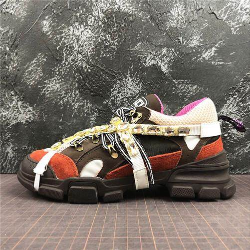 f6d83ef2f1d Gucci Official Sports Sneakers Shoes Gucci Rhyton Vintage Trainer Sneaker  Red Global Sales (EU
