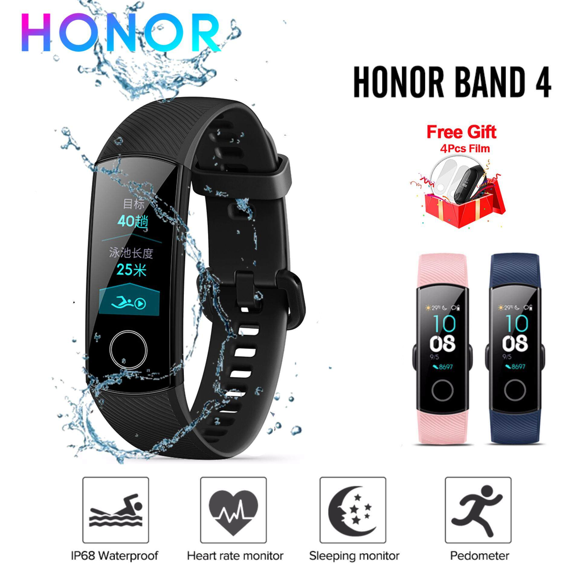 Honor Band 4 CRS-B19 Fitness Tracker Bluetooth 4 2 Bracelet for Android &  iOS Smartphones