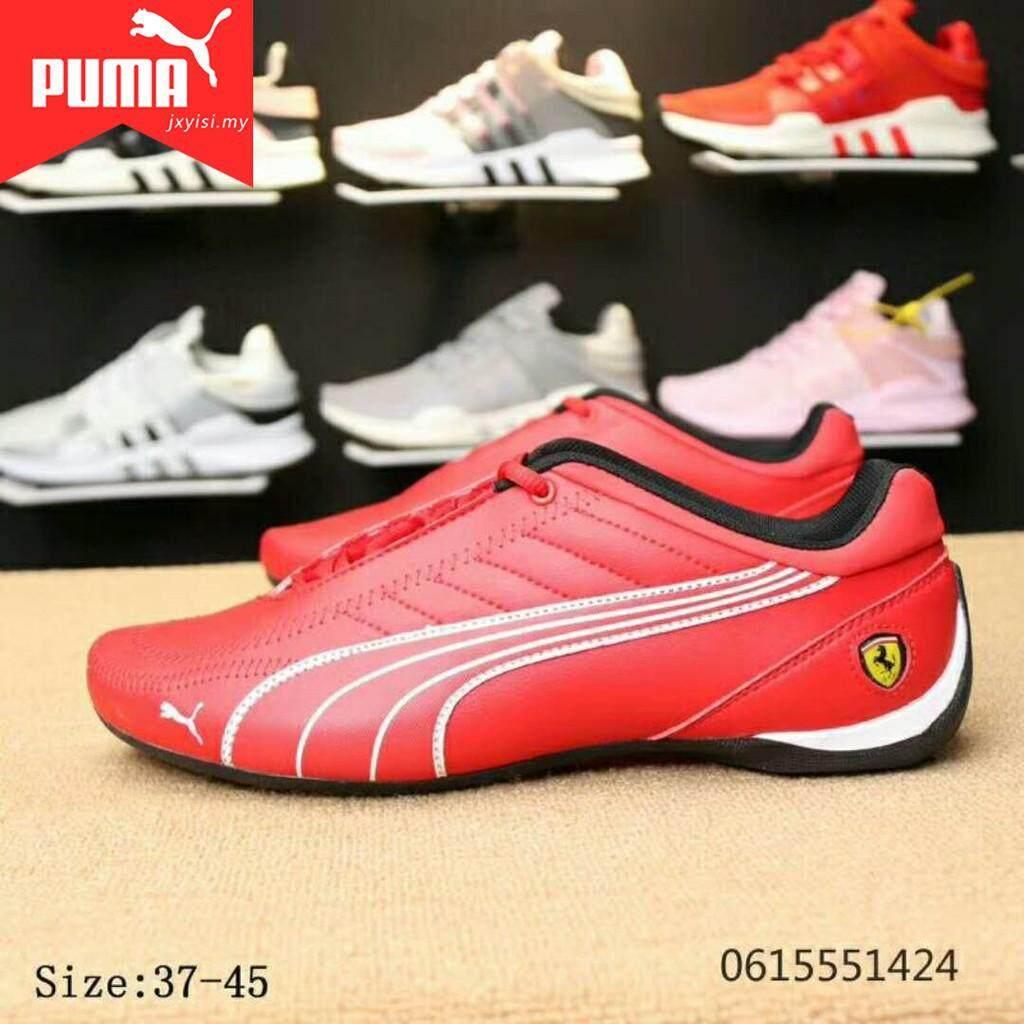 SLK ★ The New PUMA Ferrari women's men's red Classic Jogging shoes Lelaki Wanita Kasut