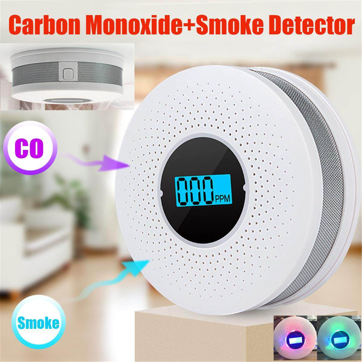 Co Carbon Monoxide Detector Smoke Fire Alarm with Voice Warning Home Security
