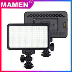 Đèn LED chụp ảnh mamen Pad-160, đèn vòng tròn có thể điều chỉnh độ sáng, quay video trên máy ảnh, dùng cho Youtube, phát trực tiếp, DSLR