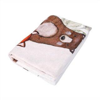 Chăn Quấn Mềm Cho Bé, Vải Flannel Họa Tiết In Chữ Và Động Vật Chăn Mềm Mại Thoải Mái Cho Bé Trai Bé Gái thumbnail