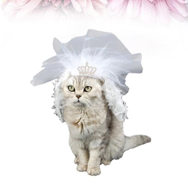 Váy Cưới Hình Mèo Sundom, Váy Cưới Ren Phù Dâu Cho Thú Cưng Đồ Dùng Cho Thú Cưng Mặc Mèo Con