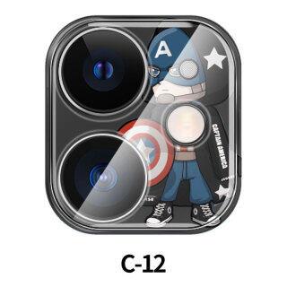Thích Hợp Cho IPhone11promax Tấm Dán Bảo Vệ Ống Kính Vòng Bảo Vệ Máy Ảnh Nắp Bảo Vệ Chống Xước Apple 11 Marvel thumbnail