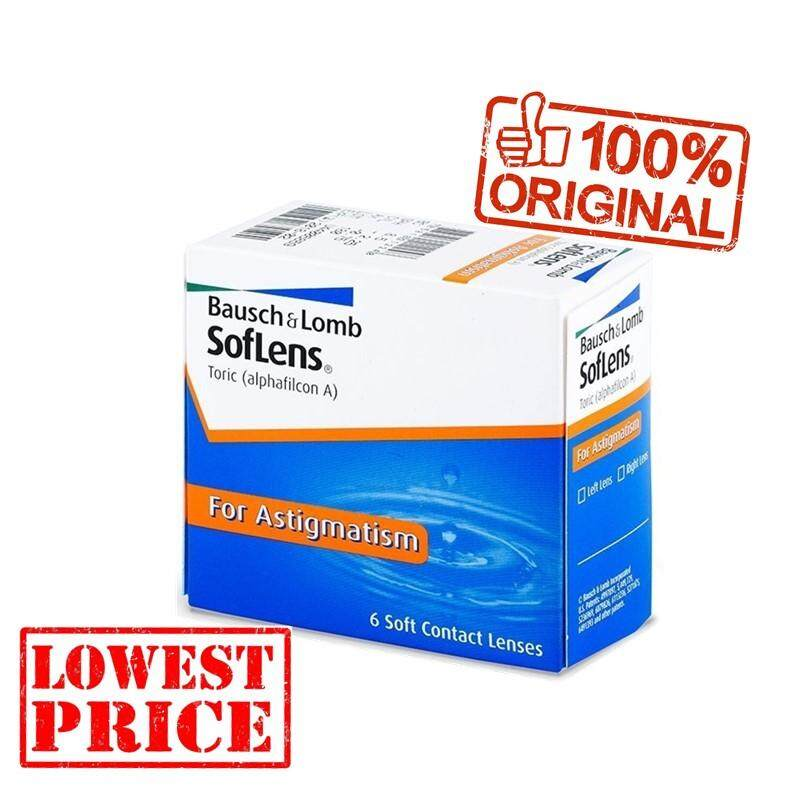 BAUSCH & LOMB Soflens 66 Toric Monthly Contact Lenses 6 Pcs + 1pcs Astigmatism