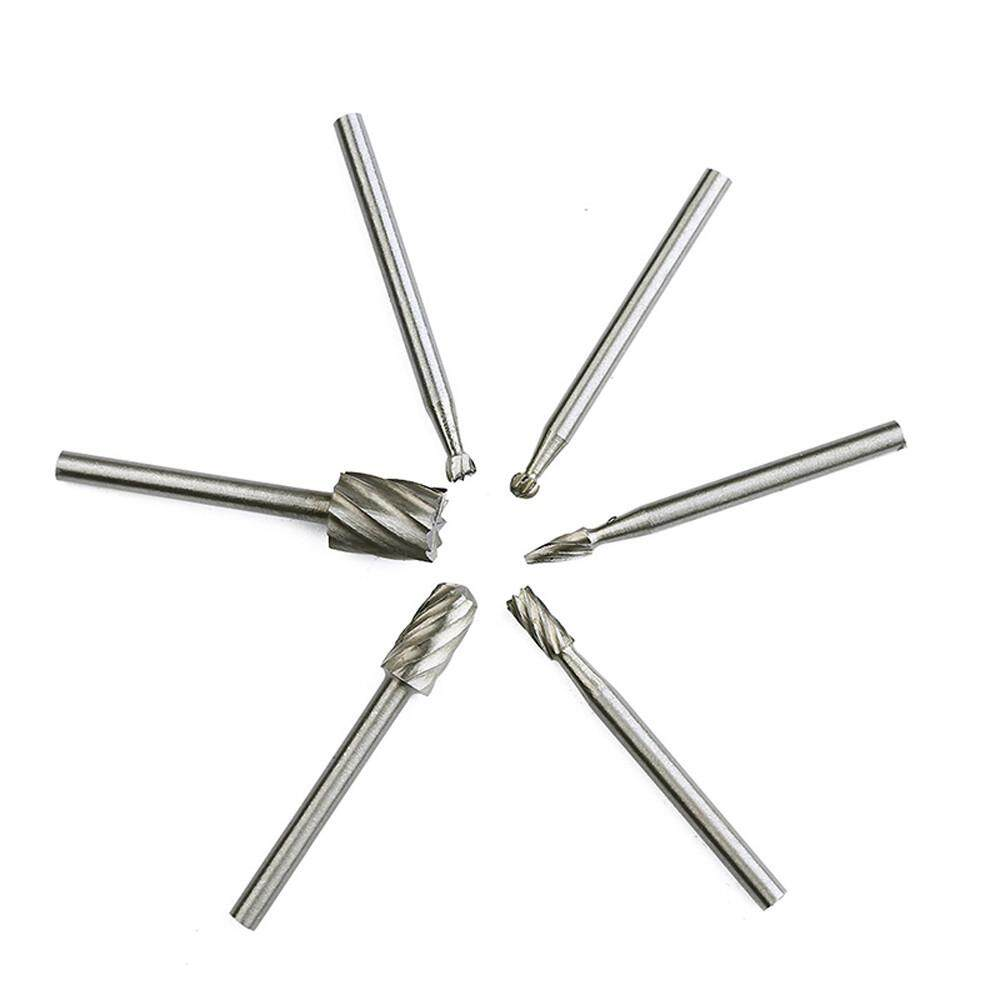 6 Pcs Tungsten Carbide Burrs Rotary Burr Set Head Die Grinder Bit