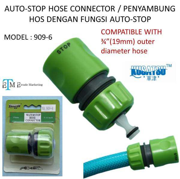 KUSATSU 909-6 HOSE CONNECTOR WITH AUTO-STOP FUNCTION