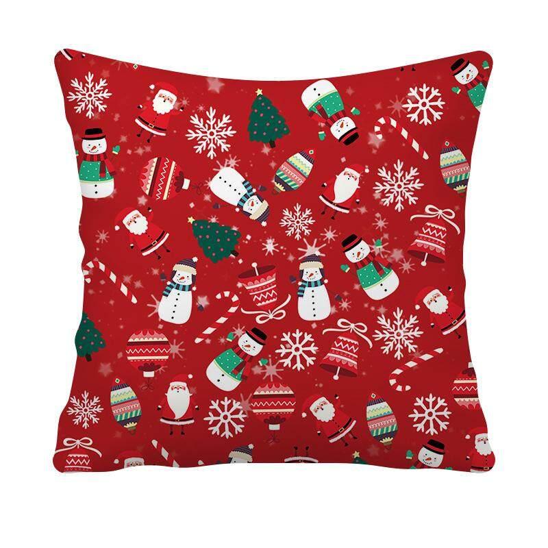 Mới Merry Christmas 1 Vỏ Gối Sofa Eo Ném Đệm Trang Trí Nhà Đệm Lưng Xmas Gối 45X45 Cm Giá Tốt Duy Nhất tại Lazada