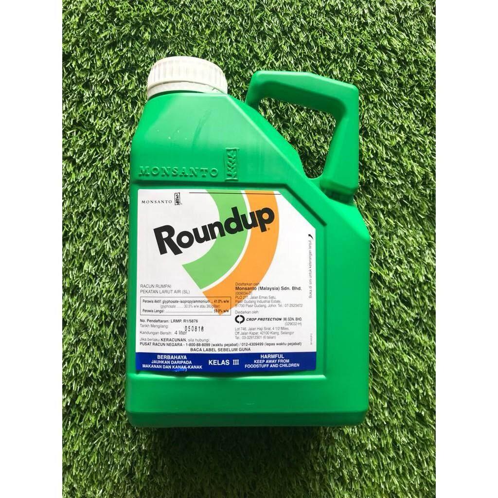 4L Roundup Glyphosate 41% Herbicide Racun Rumput