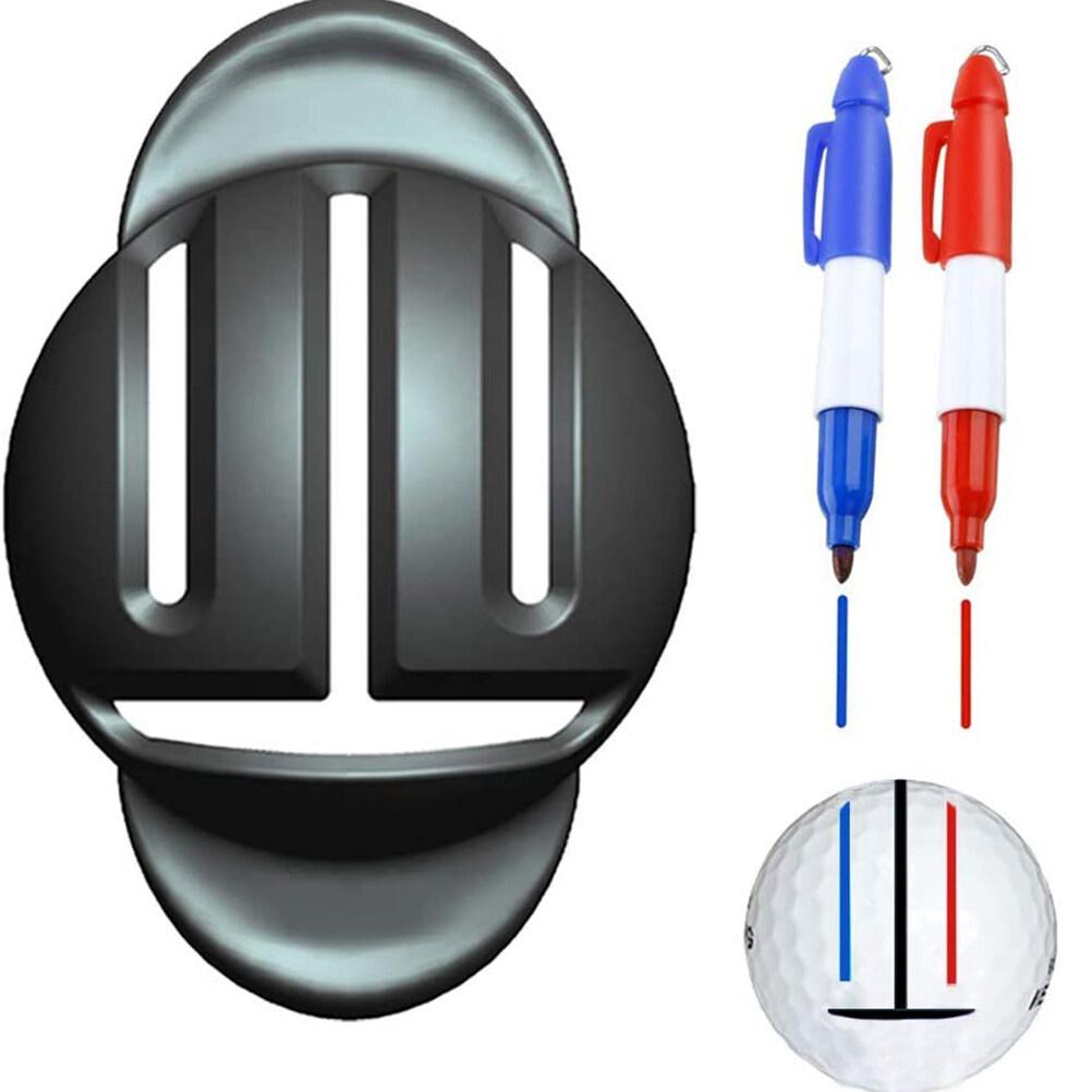 ลูกกอล์ฟliner Ballเครื่องมือทำเครื่องหมายเครื่องมือจัดตำแหน่งและลูกกอล์ฟปากกามาร์กเกอร์.