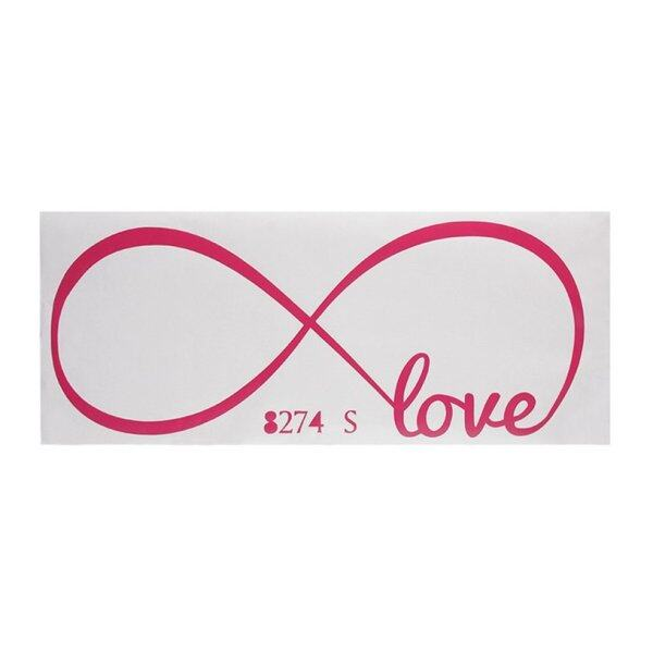 GOFT Love Infinity Wall Decal Removable Sticker Symbol Art Decor Mural Quote Words