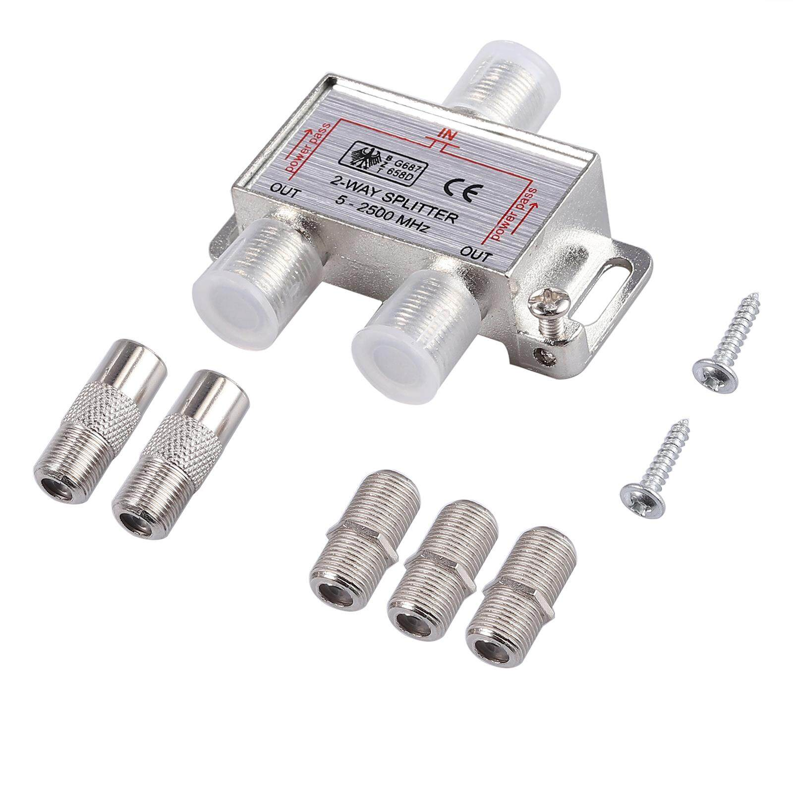 2-Way Coax Cable Splitter Bi-Directional Moca 5-2500mhz By Proster Official Store.