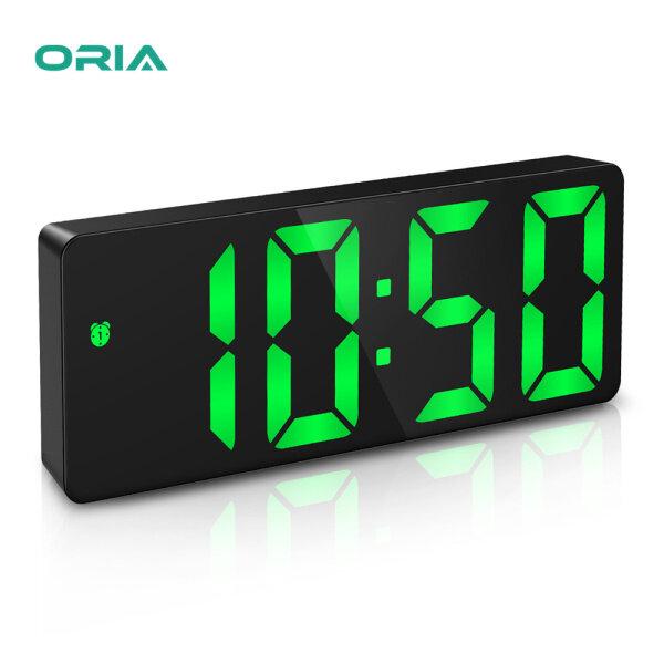 ORIA Đồng hồ kỹ thuật số đồng hồ báo thức LED đồng hồ để bàn USB điều khiển bằng giọng nói định dạng 12/24 giờ chức năng nhắc lại 3 mức sáng điều chỉnh được 3 chế độ báo thức cho gia đình phòng ngủ văn phòng bán chạy