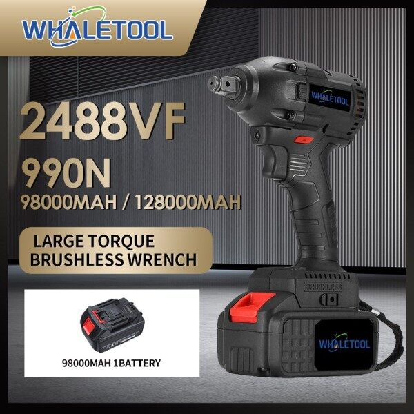 2488vf 128000mAh Brushless Cordless Electric Impact Wrench Power Battery Large battery capacity Large torque