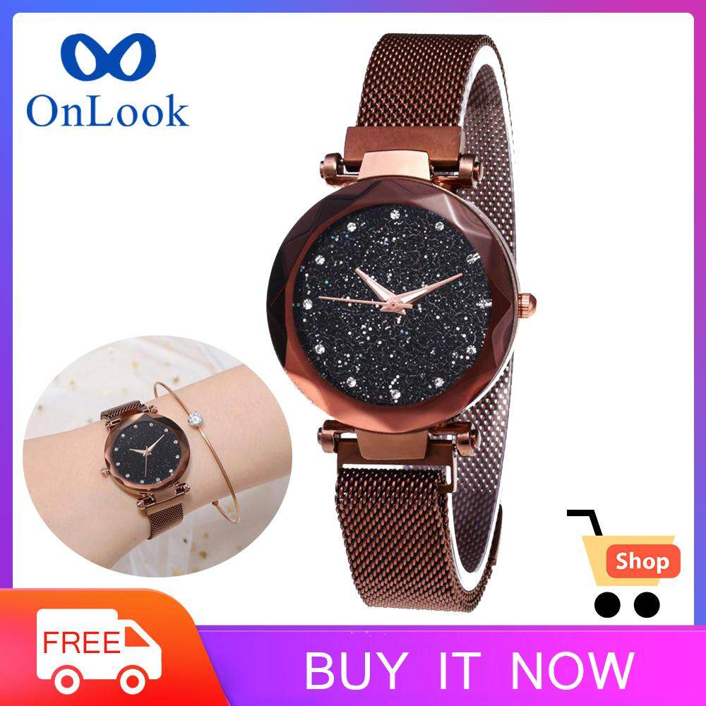 OnLook Hot Starry Sky Watch Waterproof Magnet Strap Buckle Stainless Steel Women Gift Malaysia