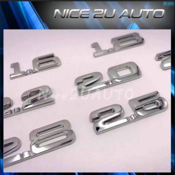 HOT  SALE  3D Aluminum Alloy Auto Badge Emblem 1.3 1.5 1.6 1.8 2.0 2.2 2.4 2.5 2.8  3.0 ⚡RDYSTOCK⚡