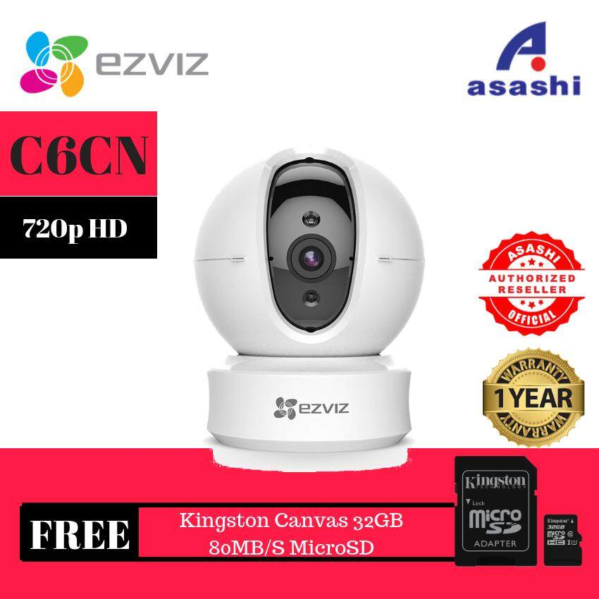 Ezviz C6cn 1mp 720p Hd Pan Tilt, Two-Way Audio, Night Vision, Motion Detection Wifi Ip Security Camera C6c + Free 32gb Micro Sd By A-Sashi Technology Sdn Bhd.