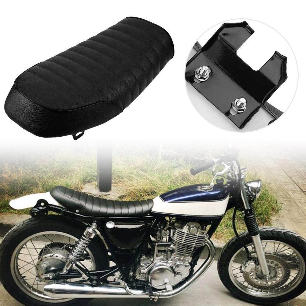 MotorcyclesAccessories 53cm Waterproof Retro Hump Cafe Racer Seat Saddle  for Honda CB Yamaha SR(Black)