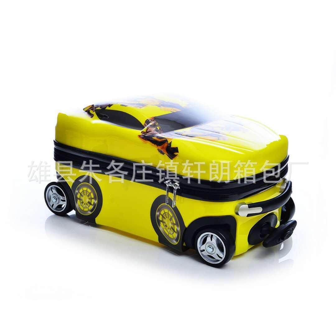 Childrens trolley case manufacturers custom PC McQueen can sit can ride kids car travel boarding luggage hand luggage