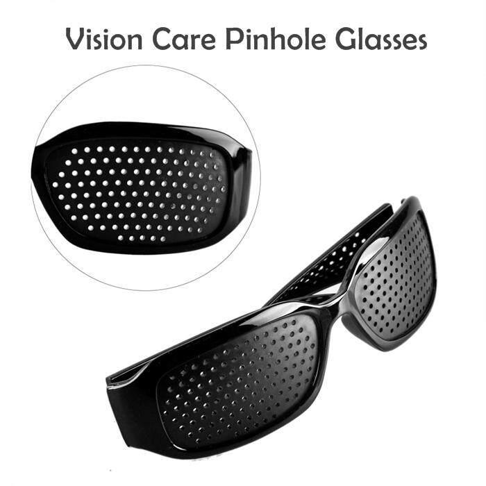 Vision Care Pinhole Glasses cermin mata hitam silau (Cermin Mata Terapi)