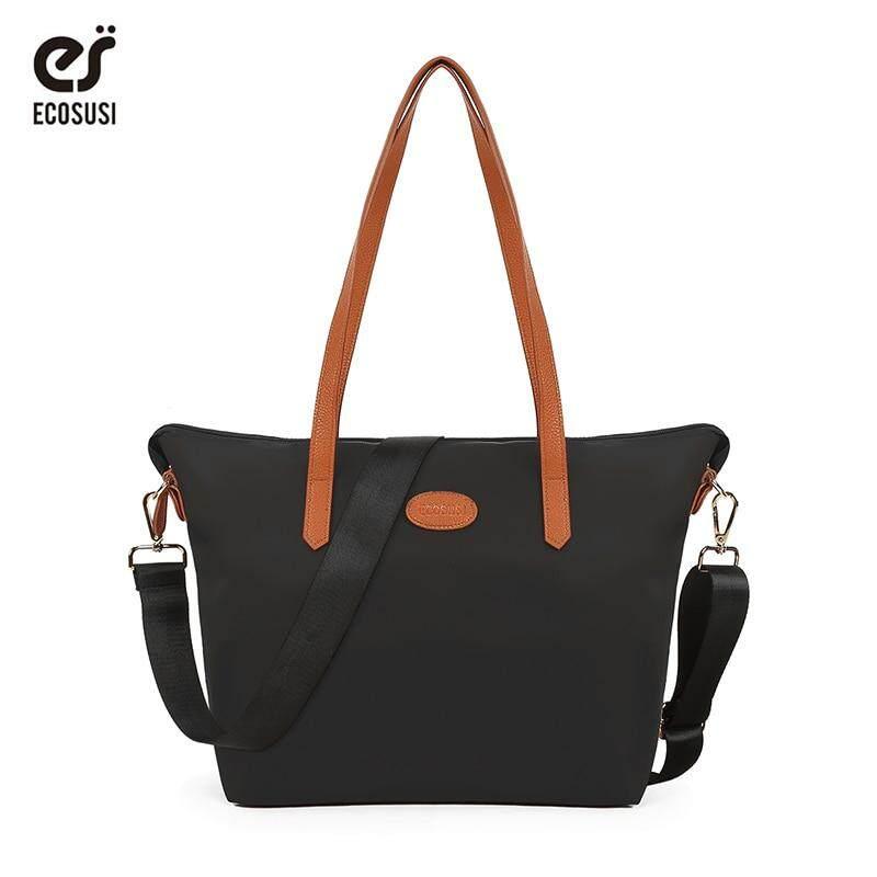 ECOSUSI Women Handbag Fashion Women Tote Bag Durable Clutch Handbags Lady Tote Bolsa Feminina Top Handle Bags Soft Nylon Bag