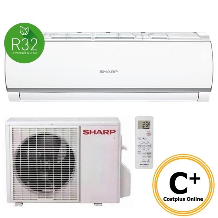 [2019 New Model] Sharp 2.5HP Air Conditioner AHA24WCD / AUA24WCD with R32 Refrigerant & Compressor & Remote Control