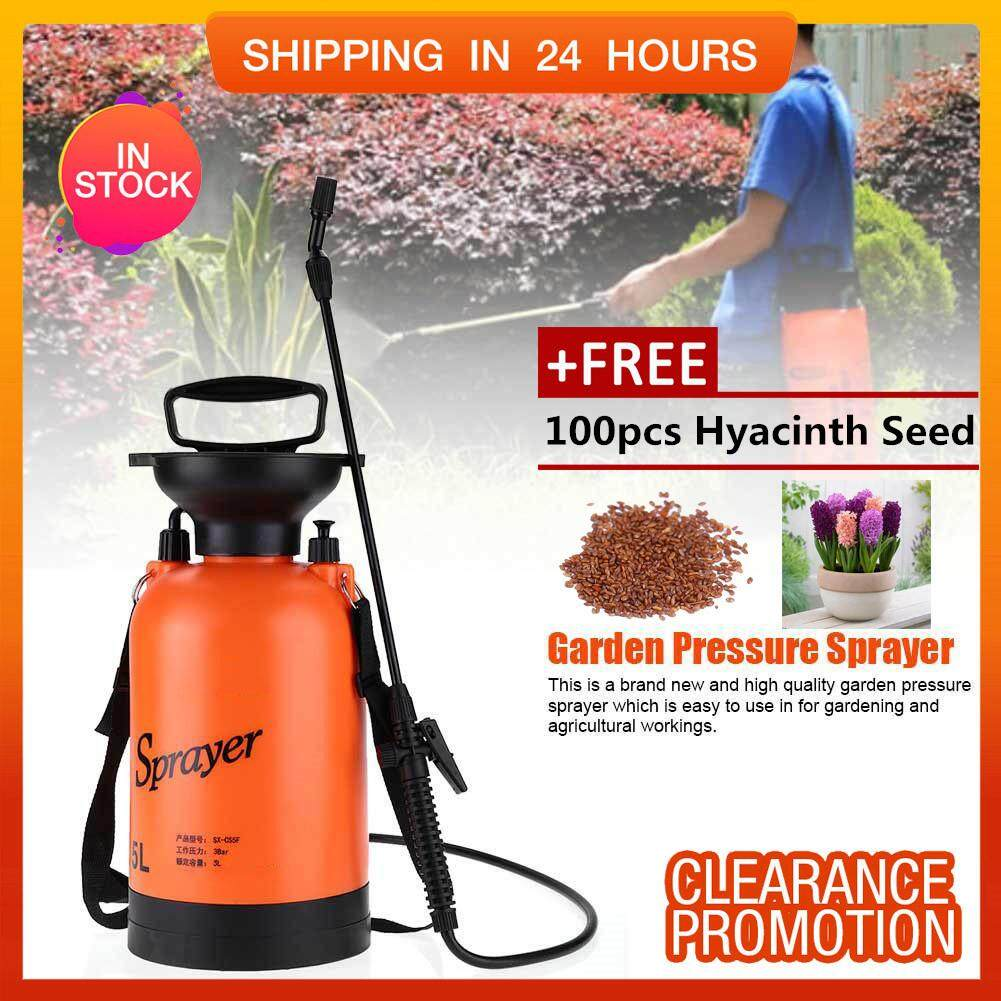 [Free Gift] SHANYU Garden Sprayer Air Pressure Type with Shoulder Strap for Agricultural Gardening Use 5L