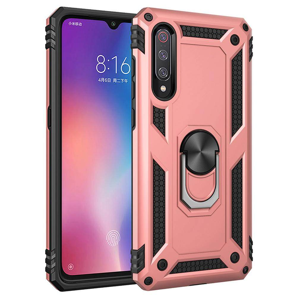 Rp 59.000. Xiaomi Mi 9 Case, Windcase Dual Layer Tough Rugged Ring Holder Stand Armor Shockproof ...