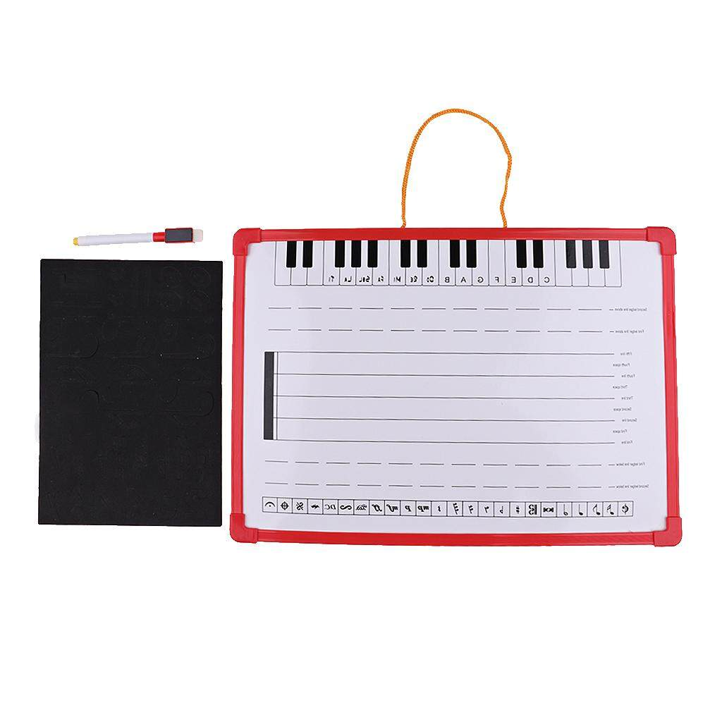 Baoblade 1x Music Notation Whiteboard Dry Erase Board for Meeting School Teaching