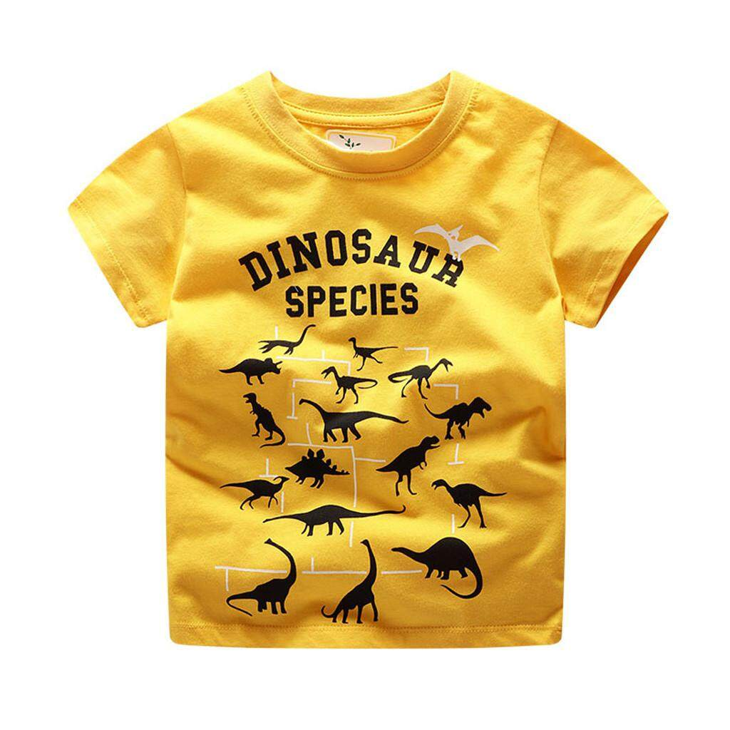 Rayeshop Children Kids Baby Girls Boys Cartoon Print T-Shirt Tee Tops Clothes【reference Size Chart】 By Rayeshop.