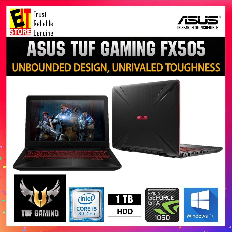 ASUS TUF FX505G-DBQ231T BLACK (I5-8300H/4GB/1TB/GTX1050 4GB/15.6/W10/2YRS) + BAG Malaysia