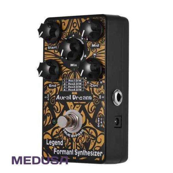 [ MEDUSA ] Legend Formant Synthesizer Guitar Effect Pedal 4 Resonance Modes Aluminum Alloy Shell True Bypass (Black) Malaysia
