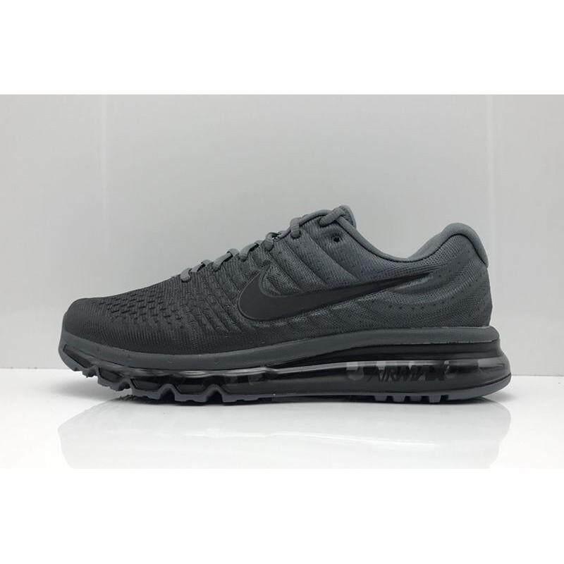 d49aaf887c9 Mens Nike Air Max 2017 Black Grey Flymesh Training Running Shoe