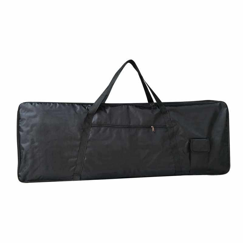 Electric Piano Bag Portable Gig Bag with Durable Handle 4MM Anti-Collision Cotton Interlayer for 76 Keys Keyboard Pianos with Outside Pockets Black (Standard) Malaysia