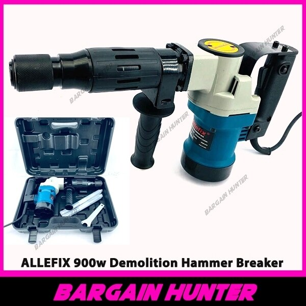 BARGAIN HUNTER - ALLEFIX 900w Demolition Hammer Breaker / Pick Break Concrete Electric Hammer