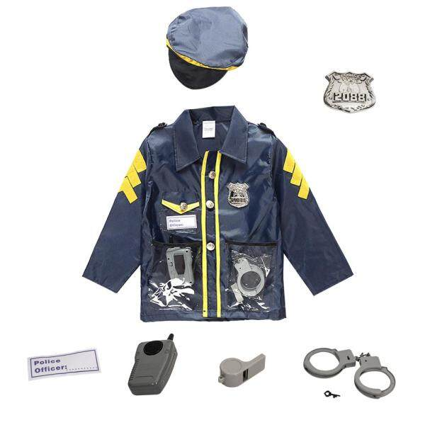 Chlidrens Policeman Cosplay Costume Policeman Costume With Durable Case Police Officer Costume for Kids Singapore