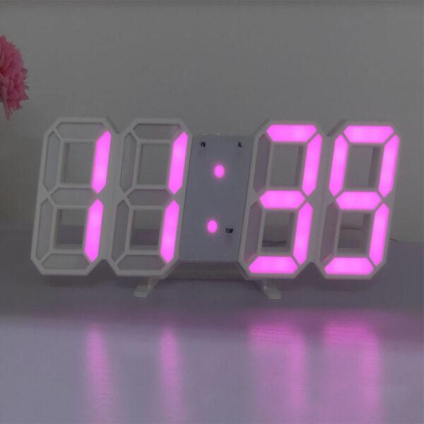Đồng Hồ Treo Tường 3D Kỹ Thuật Số LED USB Đồng Hồ Để Bàn Báo Thức Đèn Ngủ Đồng Hồ Thiết Kế Hiện Đại Cho Trang Trí Phòng Khách Gia Đình bán chạy