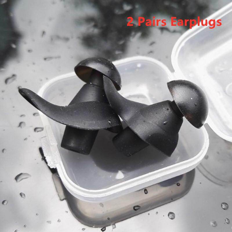 2 Pairs Ear Plugs Waterproof Earplugs Water Sports Swimming Diving Adult Ear Protector