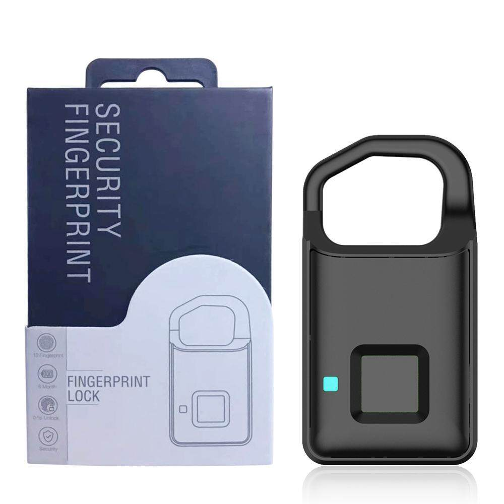 Good Breeze P4 Fingerprint Lock,Smart Keyless Fngerprint Padlock with USB Rechargeable Waterproof Security Anti-Theft Lock for Suitcase/Backpack/Gym/Bike