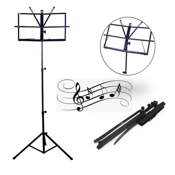 ZAPPO Music Book Stand Foldable Heavy Duty Stand With Carrying Bag Music Book Rack Malaysia