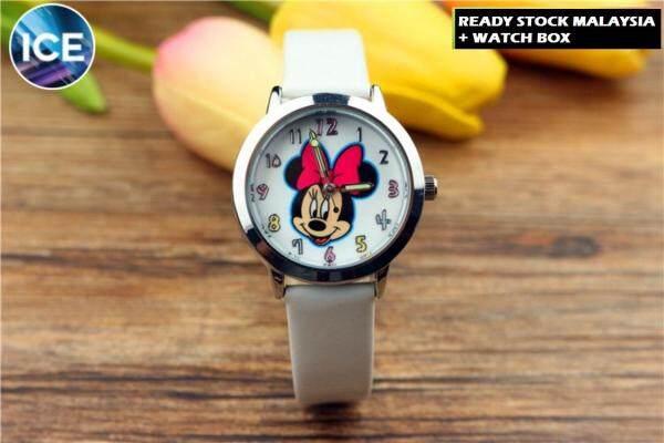 ICE Kids/Childrens Sport and Casual Minnie Analog Luminous Pointer Watches + Watch Box Best Gift Jam Tangan Malaysia