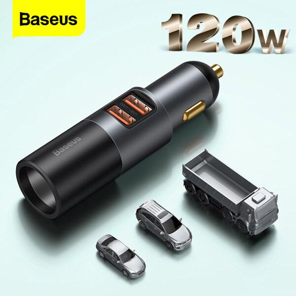 Sạc Xe Hơi Baseus 120W Sạc Nhanh USB PD 4.0 QC4.0 QC3.0 PD Type C, Bộ Chia Ổ Cắm Xe Hơi 12-24V